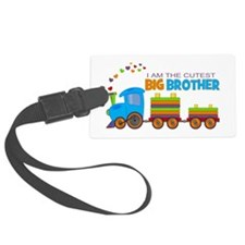 I am the Cutest Big Brother - Train Luggage Tag