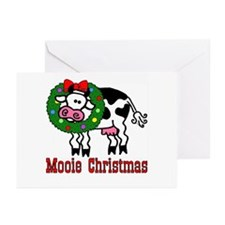 Xmas Cow Greeting Cards (Pk of 10)
