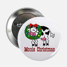 Xmas Cow Button