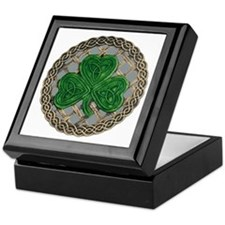 Shamrock And Celtic Knots Keepsake Box