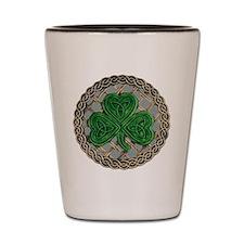 Shamrock And Celtic Knots Shot Glass