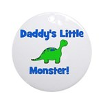 Daddy's Little Monster - Dino Ornament (Round)