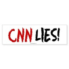 CNN Lies Bumper Car Sticker