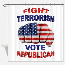 TERRORISM Shower Curtain