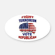 TERRORISM Oval Car Magnet