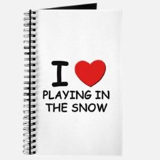 I love playing in the snow Journal