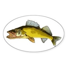 walleye art Decal