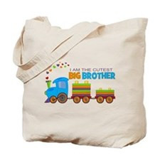 I am the Cutest Big Brother - Train Tote Bag