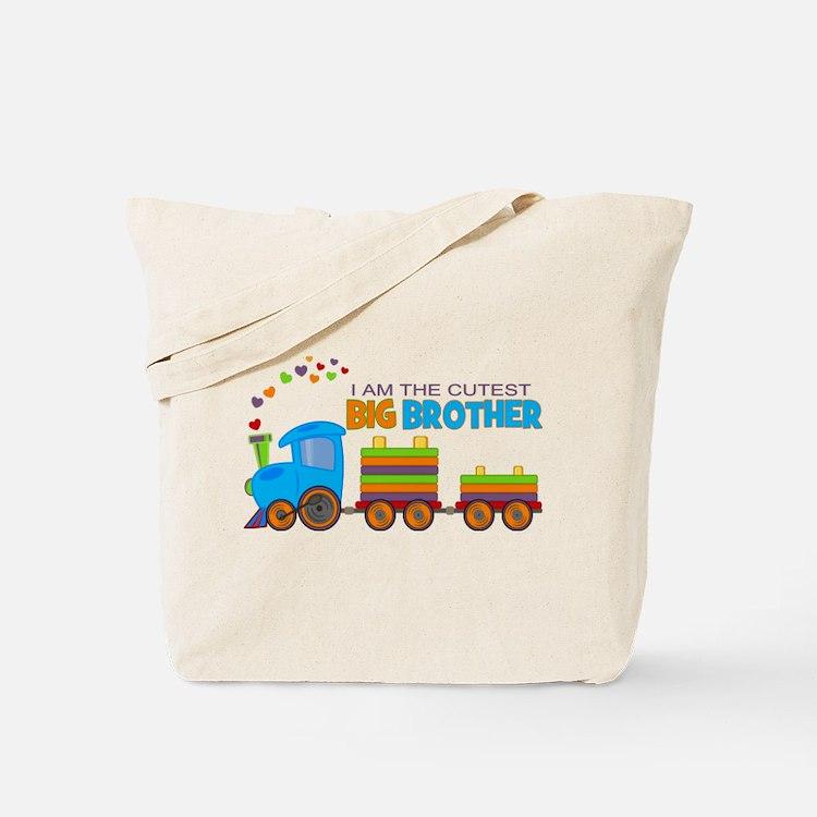I am the Cutest Big Brother - Train Tote Bag