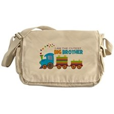 I am the Cutest Big Brother - Train Messenger Bag