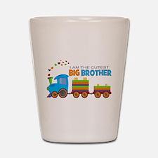 I am the Cutest Big Brother - Train Shot Glass
