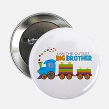 "I am the Cutest Big Brother - Train 2.25"" Button ("
