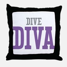 Dive DIVA Throw Pillow