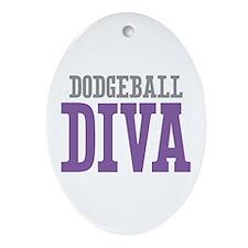 Dodgeball DIVA Ornament (Oval)