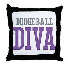 Dodgeball DIVA Throw Pillow