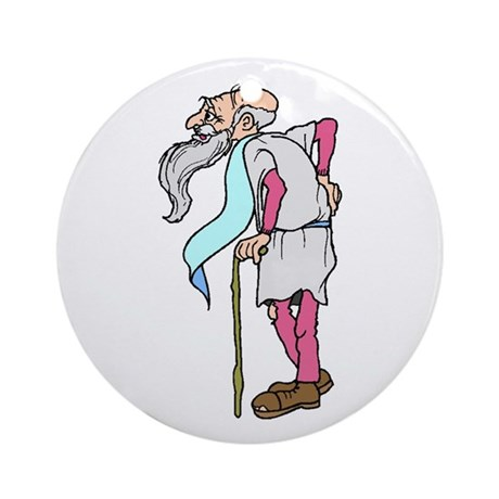 Father Time New Year Ornament (Round)