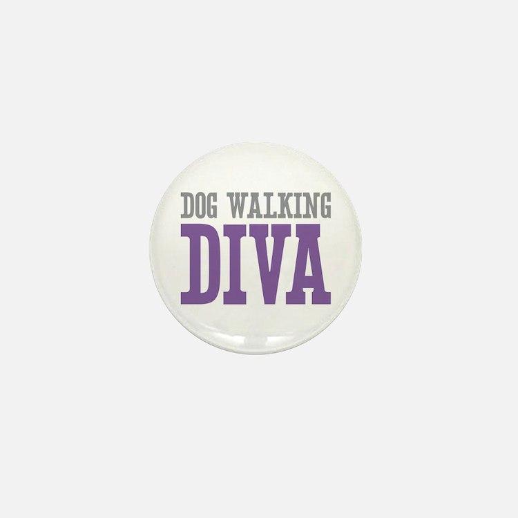 Dog Walking DIVA Mini Button