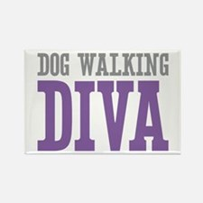 Dog Walking DIVA Rectangle Magnet