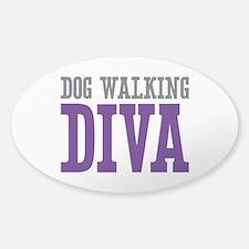 Dog Walking DIVA Sticker (Oval)