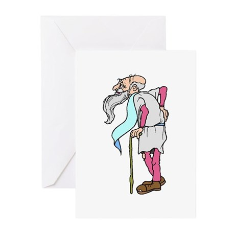 Father Time New Year Greeting Cards (Pk of 10)