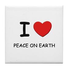 I love peace on earth Tile Coaster