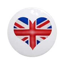 British Flag Heart Ornament (Round)