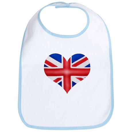British Flag Heart Bib