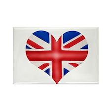 British Flag Heart Rectangle Magnet