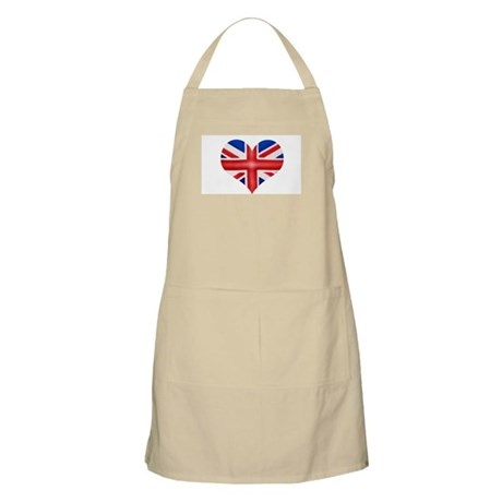 British Flag Heart BBQ Apron