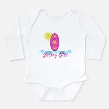 Jersey Girl Bright Pink Surfboard W/Sun Bodysuit B