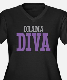 Drama DIVA Women's Plus Size V-Neck Dark T-Shirt