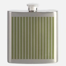Chartreuse Skinny Stripes Flask