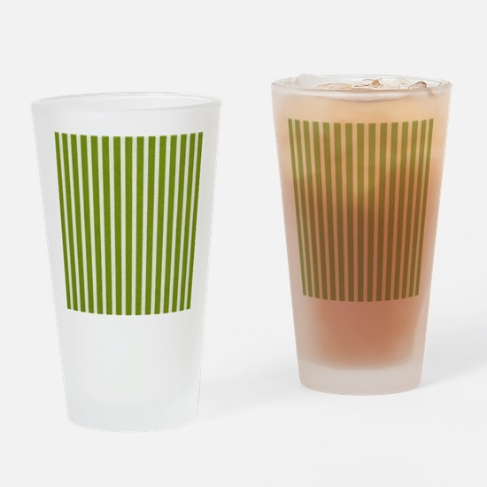 Chartreuse Skinny Stripes Drinking Glass