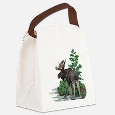 Bull moose art Canvas Lunch Bag