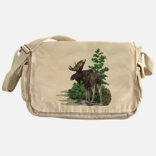 Bull moose art Messenger Bag