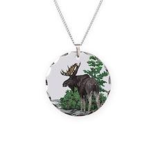 Bull moose art Necklace