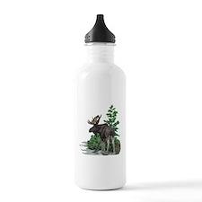 Bull moose art Water Bottle