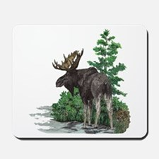 Bull moose art Mousepad