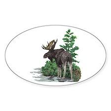 Bull moose art Decal