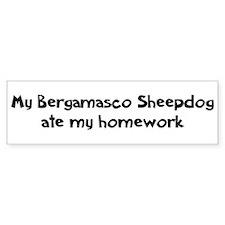 Bergamasco Sheepdog ate my ho Bumper Bumper Bumper Sticker