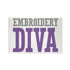 Embroidery DIVA Rectangle Magnet