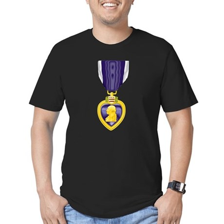 Purple Heart Black T-Shirt