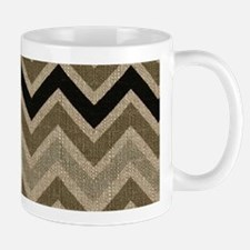 Burlap brown Zigzags Mug