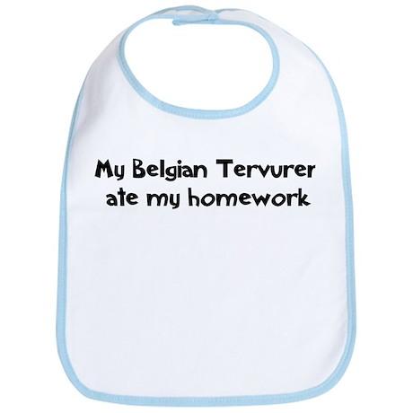 Belgian Tervuren ate my homew Bib