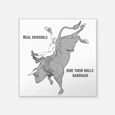 Real cowgirls ride bareback Sticker