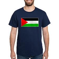 Palestinian Blank Flag Blue T-Shirt