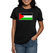 Palestinian Blank Flag Women's Black T-Shirt