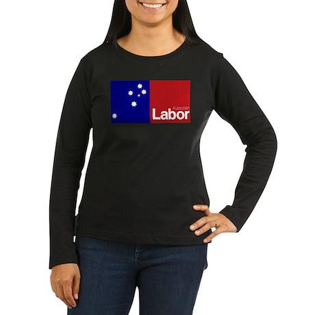 Labor Party Logo Women's Long Sleeve Dark T-Shirt