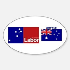 Labor Party Logo Sticker (Oval)