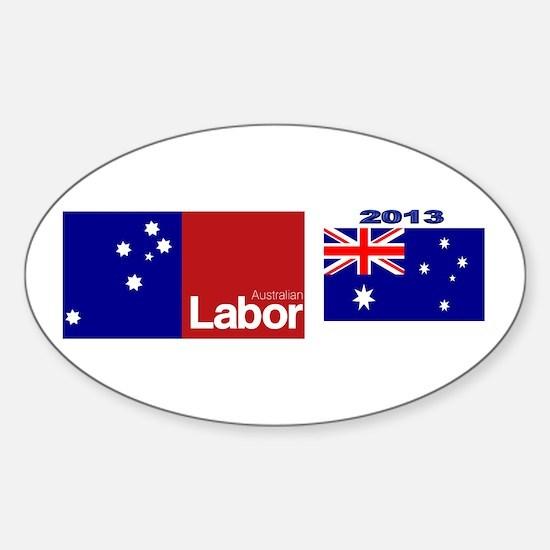 Labor Party Logo Sticker (Oval)